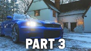 Forza Horizon 4 Gameplay Walkthrough Part 3 -  WINTER & UNLOCKING SKYLINE R34 / Rocket Bunny 350z