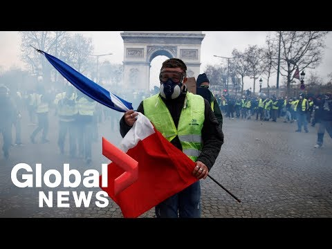 French police clash with 'yellow vest' protesters in Paris