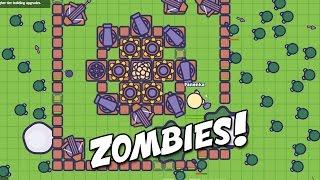 Zombs.io Epic Zombie Fortress Defense!  (Zombs.io New io Gameplay - Zombie Defense io Game)