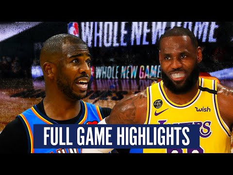 OKC THUNDER VS LA LAKERS – FULL GAME HIGHLIGHTS | 2019-20 NBA SEASON
