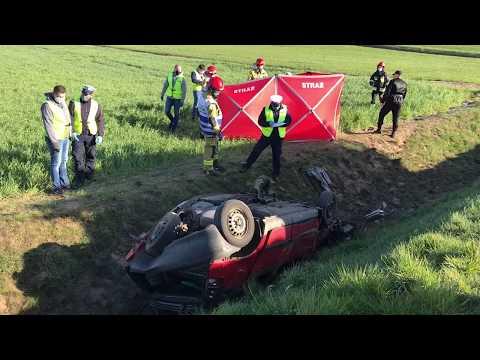 Wideo1: Wypadek śmiertelny na drodze Gostyń - Krobia