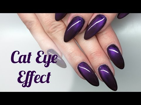 Cat Eye Effect Nails Tutorial | Efekt Kociego Oka