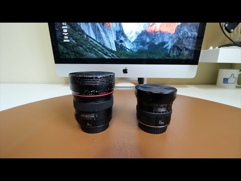 Gran angular y ojo de pez | Canon 14mm vs 15mm | Diferencia