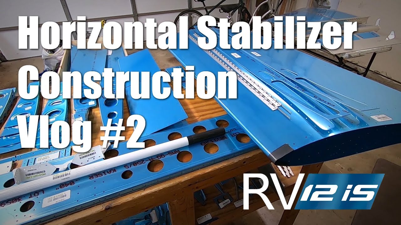Vans RV-12iS Horizontal Stabilizer Construction - Spar Cap Assembly: Vlog #2
