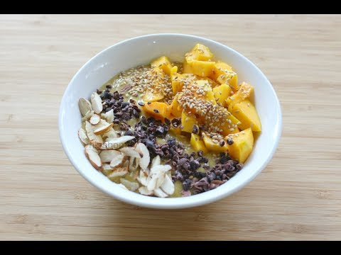 Video Smoothie Bowl - Lose 2 kgs in 1 week -Healthy Breakfast Recipes/Ideas For Weight Loss-Skinny Recipes