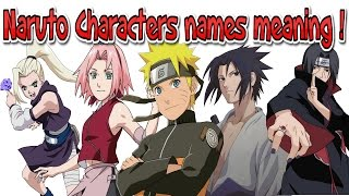 Naruto Characters names meaning