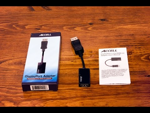 Accell DisplayPort to HDMI 2.0 Adapter