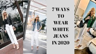 7 Ways to Wear White Jeans | Fashion Over 40