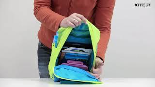 """Рюкзак детский Kite K18-545XS-2 ( 3-5 лет) от компании Интернет-магазин """"Радуга"""" - школьные рюкзаки, канцтовары, творчество - видео"""
