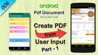 #6 Create PDF from User Input : Android Studio PDF Document