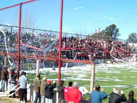 """Hinchada de Douglas Haig"" Barra: Los Fogoneros • Club: Douglas Haig"