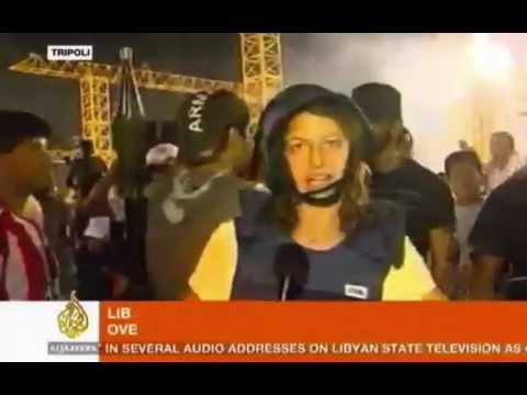 Download Aljazeera's Zeina Khodr & Crew In Free Tripoli Screencaps Slideshow HD Mp4 3GP Video and MP3
