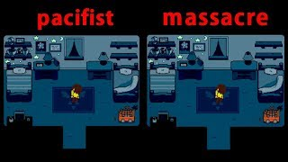 Deltarune Pacifist & Massacre play comparison