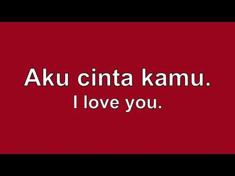 How To Say I Love You In Indonesian