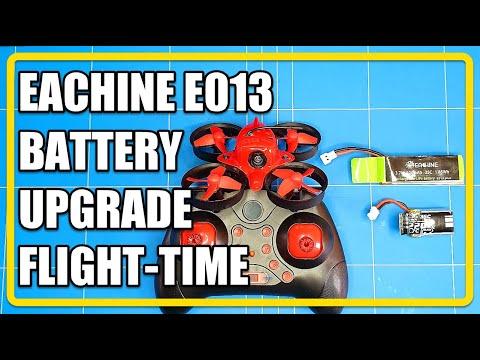 Eachine E013 Lipo Battery Upgrade Flight Time TEST 220Mah vs 500Mah