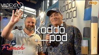 KODDOPOD : un vaporisateur ultra compact et design avec des e-liquides aux sels de nicotine.