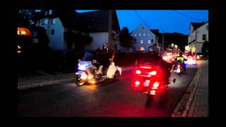 preview picture of video 'Lichterfahrt Goldwing-Treffen Seiffen 2013'