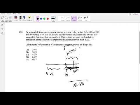 SOA Exam P Question 150 | Percentile and Exponential Distribution ...