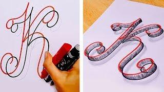 ٢٥ حيلة وخدعة سهلة في الرسم والخط
