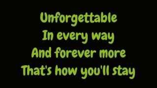 Nat King Cole - Unforgettable (Lyrics High Quality Mp3)