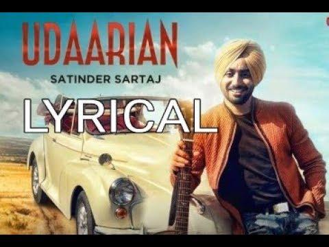 Udaarian Lyrical Vedio || Satinder Sartaaj || Jatinder Shah || Punjabi Song || Saga Music