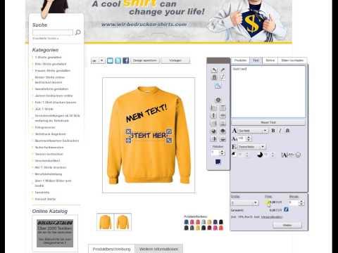 T-Shirt bedrucken lassen  online
