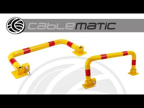 Barrera de aparcamiento abatible plegable con cerradura distribuido por CABLEMATIC ®