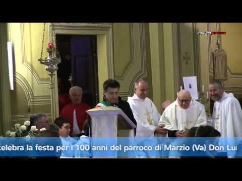 Festa per il parroco centenario di Marzio