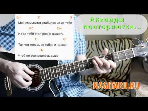 """Тима Белорусских - """"Витаминка"""". Легкие аккорды без баррэ, слова, разбор   Песни под гитару"""