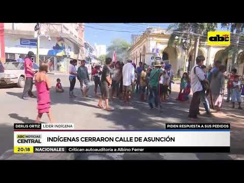 Indígenas cerraron calles de Asunción