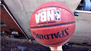 What Happens to a Basketball When Dropped From 100ft Drop? - WillitBREAK?