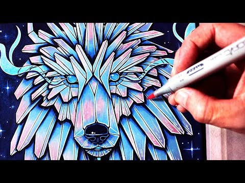 Let's Draw an ICE WOLF - FANTASY ART FRIDAY