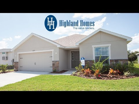 Serendipity home plan by Highland Homes - Florida New Homes for Sale