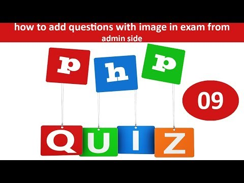 how to add questions with image option in exam from admin side in online quiz