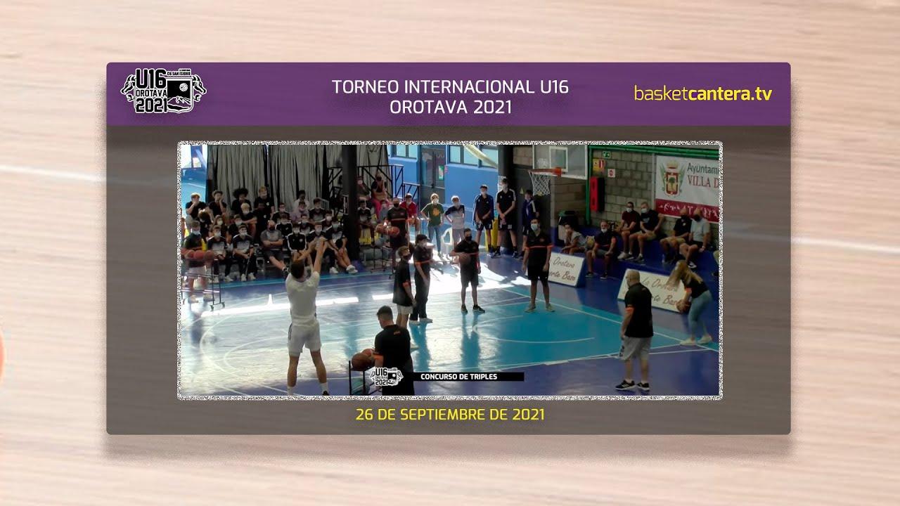 CONCURSO DE TRIPLES.- Torneo Internacional U16M Villa de la Orotava 2021