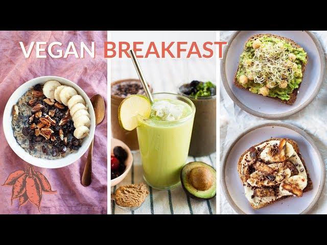 5 MINUTE Vegan Breakfast Recipes ????