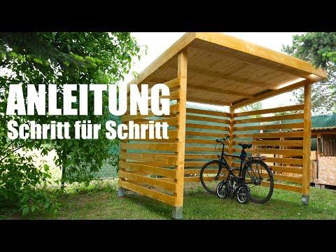 Fahrradgarage aus Holz Kinderleicht selber bauen!