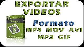 Grabar o exportar video camtasia studio 8 o 7