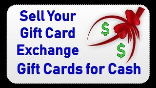 Sell Your Gift Card | Exchange Gift Cards for Cash