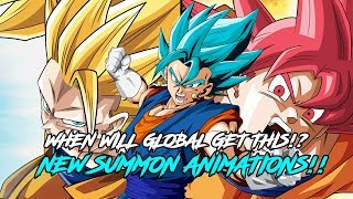 WHEN WILL GLOBAL GET THESE NEW SUMMON ANIMATIONS!? DRAGON BALL Z DOKKAN BATTLE (JP)