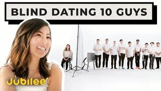 10 vs 1: Speed Dating 10 Guys Without Seeing Them