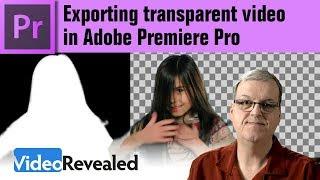 Transparent Video in Adobe Premiere Pro
