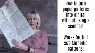 FlossTube 30 | Converting A Full Size Paper Chart To Digital Without Using A Scanner!