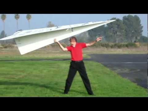 Huge RC Paper Plane Takes Flight