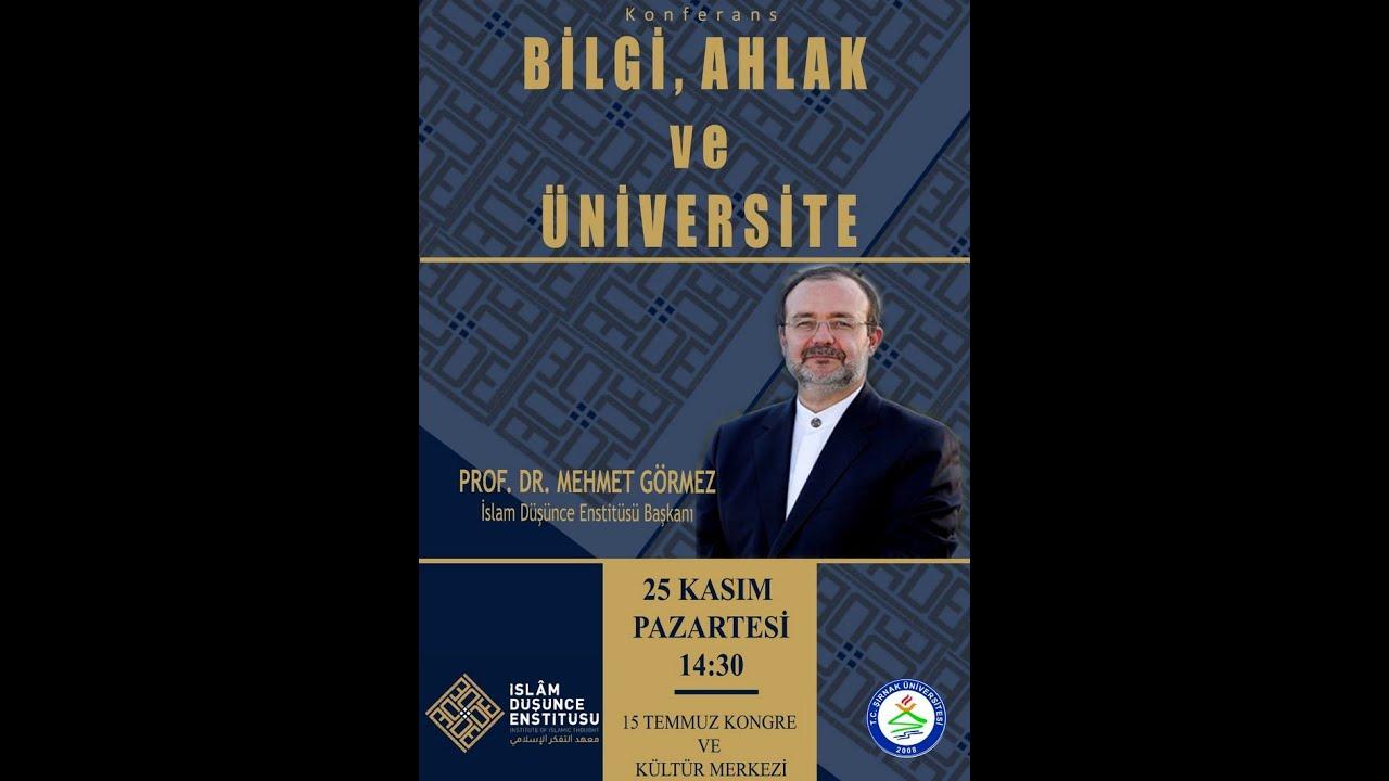 Prof. Dr. Mehmet Görmez, Şırnak Üniversitesinde