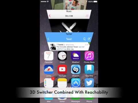 0 Switchability für iOS 8: 3D App Switcher im Einhandmodus [Video] Apple iOS Jailbreak