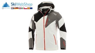 Spyder, Leader, ski-jas, heren, wit/grijs/volcano rood