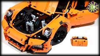 Lego PORSCHE 911 GT3 RS. Speed Build Lego Stop Motion Animation.