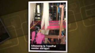 preview picture of video 'Silk weaving and the Mekong River Starlagurl's photos around Ubon Ratchathani, Thailand'