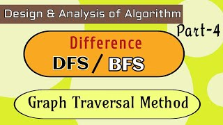 difference between depth first search and breadth first search with